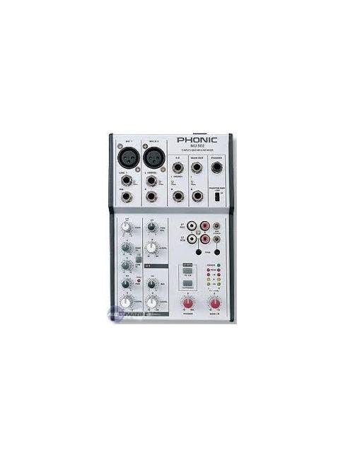 Table de mixage Phonic MU-502
