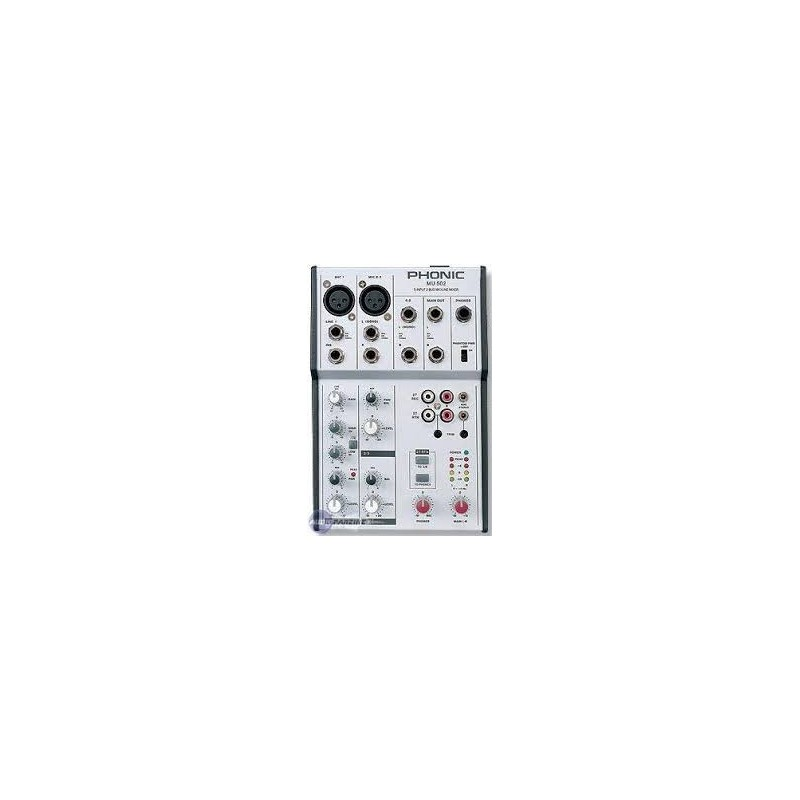 Table de mixage Phonic MU-502 - Animation Bomba